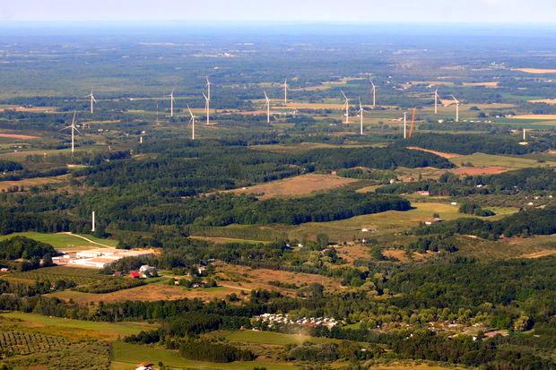 michigan wind farm construction