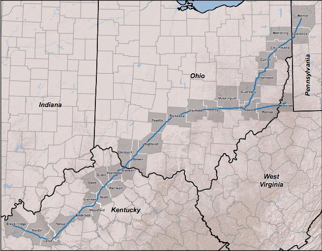 Bluegrass Pipeline Map