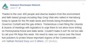 Deleware Riverkeeper Tweet