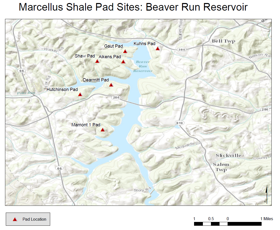 Beaver Run Reservoir Shows No Adverse Effects from Marcellus Drilling