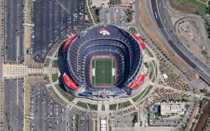 Mile High Stadium Aerial