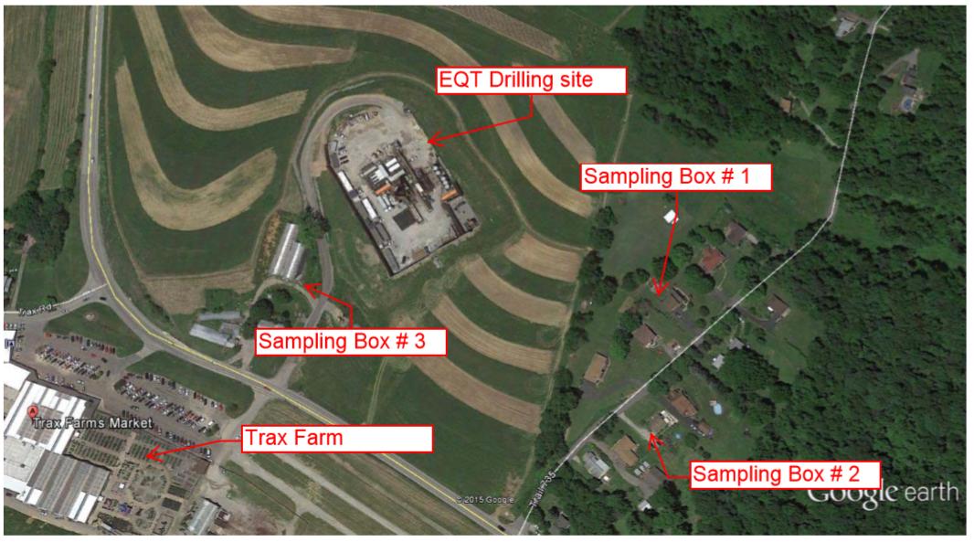 EQT Location of Air Monitors
