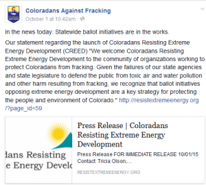 CO Against Fracking Ballot Initiatives Are In the Works