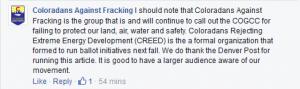 Coloradans Against Fracking Facebook Ballot Initiatives