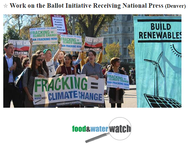 work on the ballot initiative receiving national press