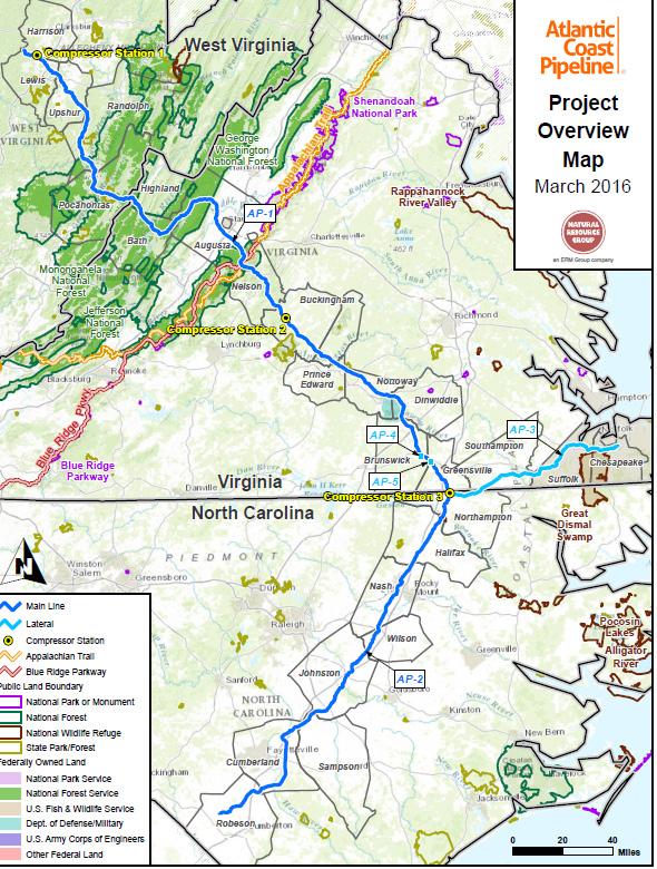 Natural Gas Pipeline Map Virginia