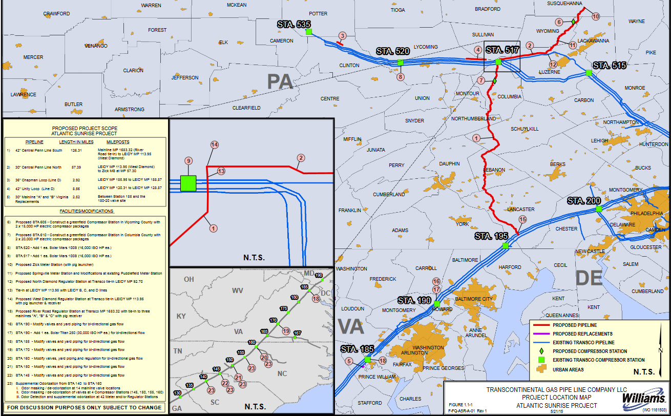 Atlantic Sunrise Natural Gas Pipeline Whole Route